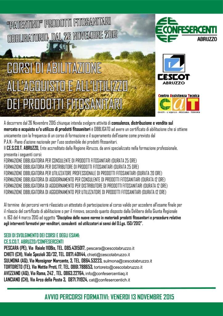 patentino prodotti fitosanitari