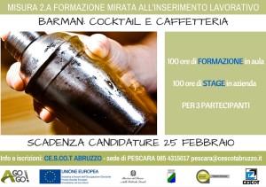 Garanzia Giovani MISURA 2A Barman Caffetteria