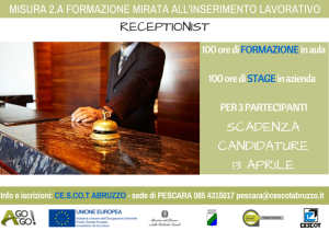 RECEPTIONIST Pescara