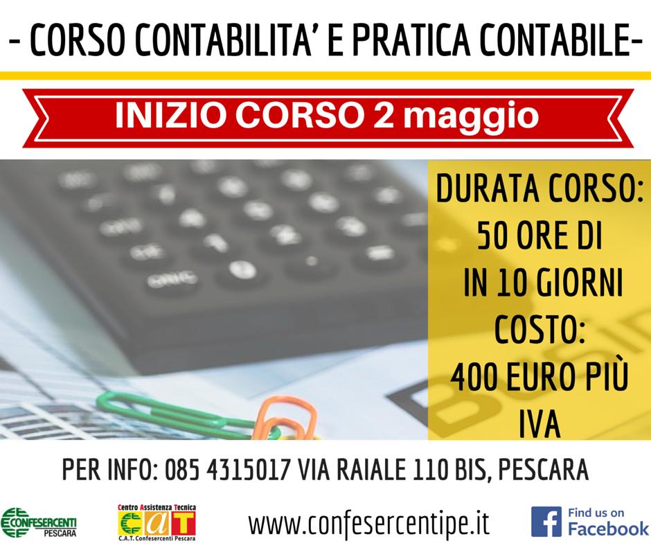 Corso contabilità Pescara