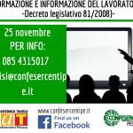 FORMAZIONE E INFORMAZIONE DEI LAVORATORI Corso a Pescara